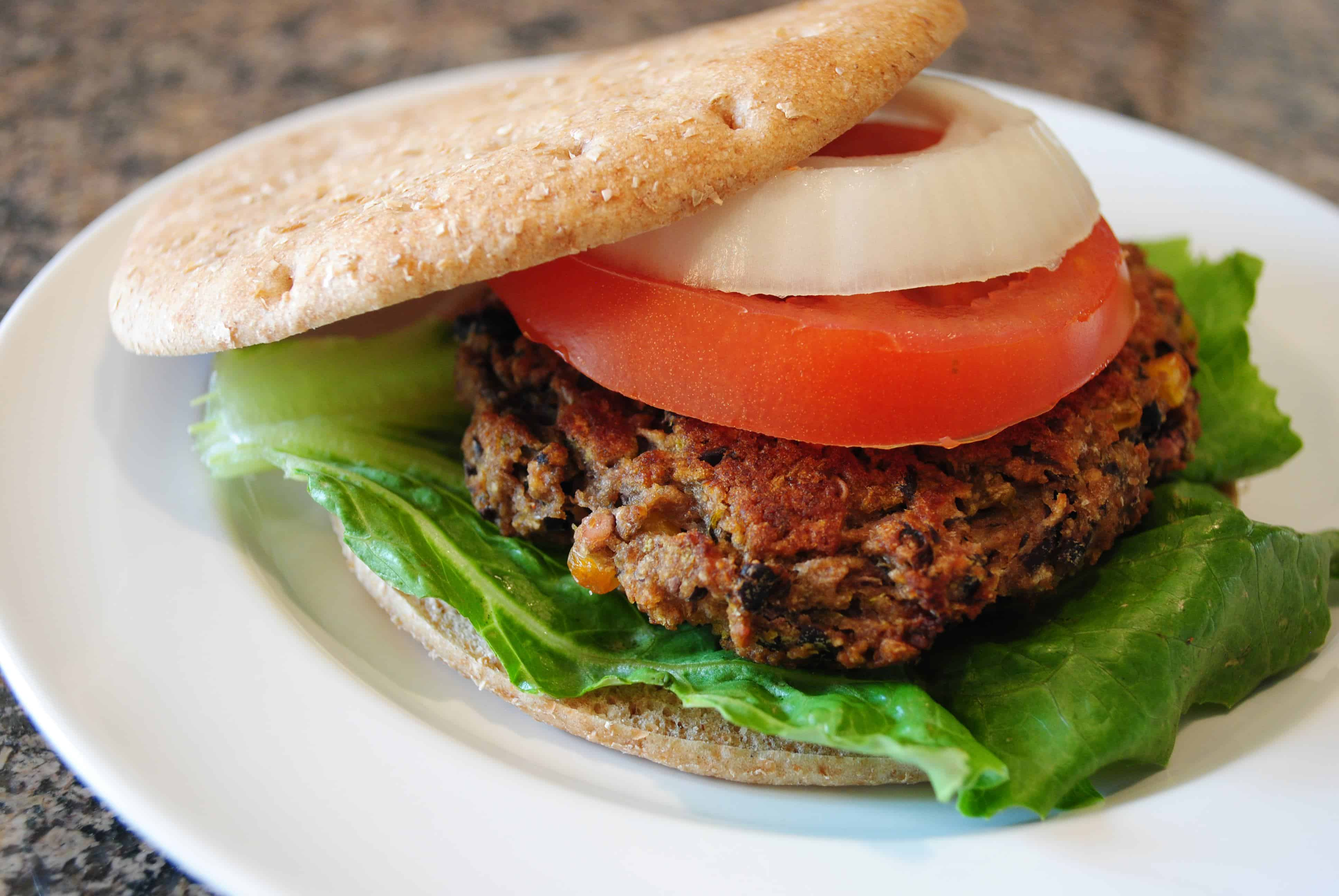 Green Chile Black Bean Burgers