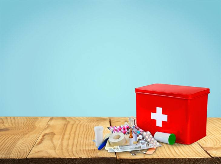 Pack your first aid kit