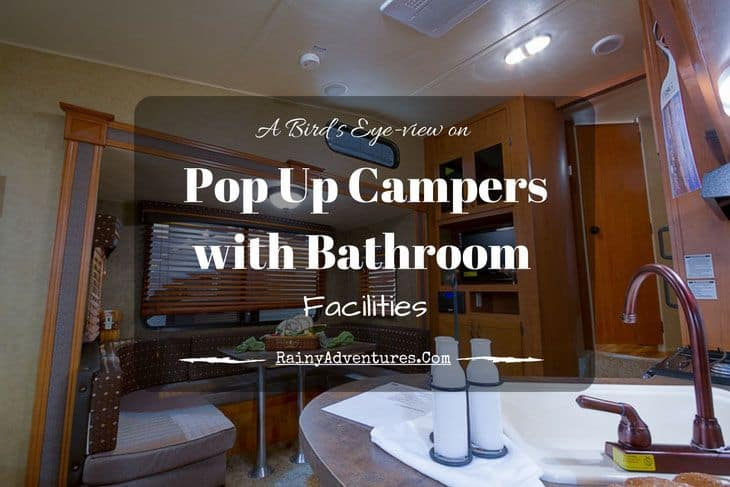 pop up camper with bathroom
