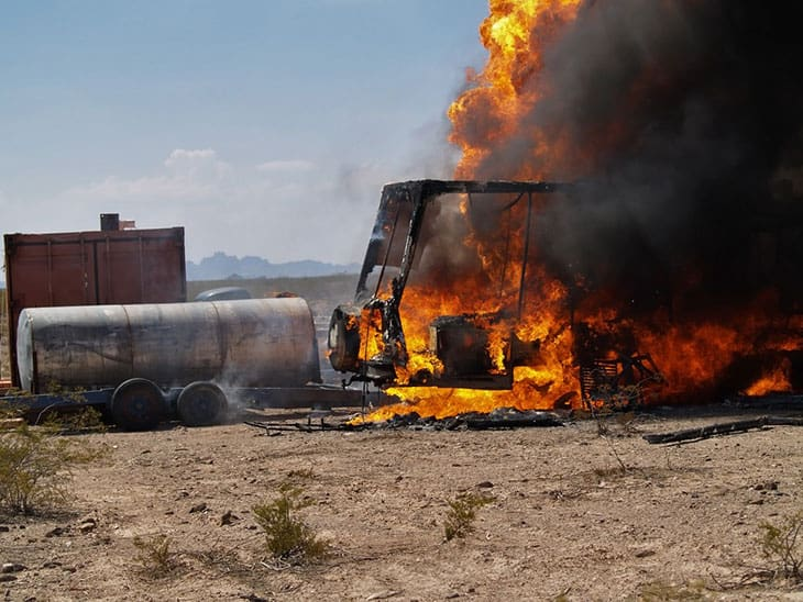 Burning RV