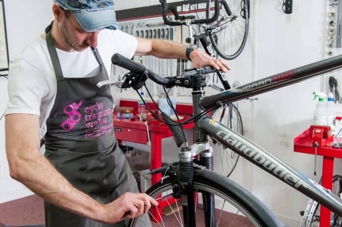 maintenance done on a bike