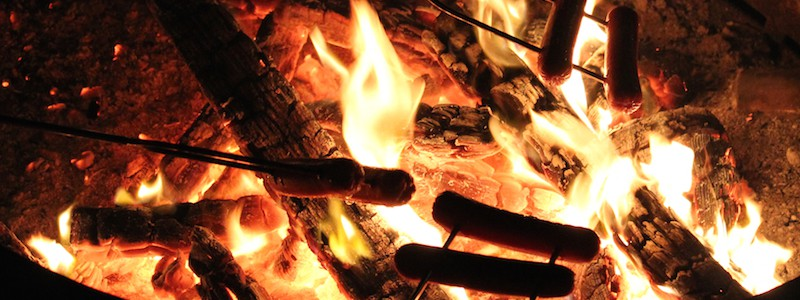 how to make a camping fire