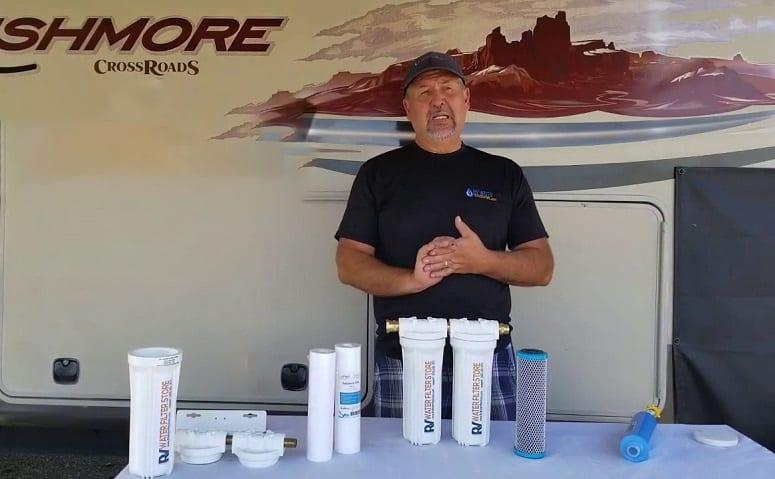 Man Choosing RV Water Filter