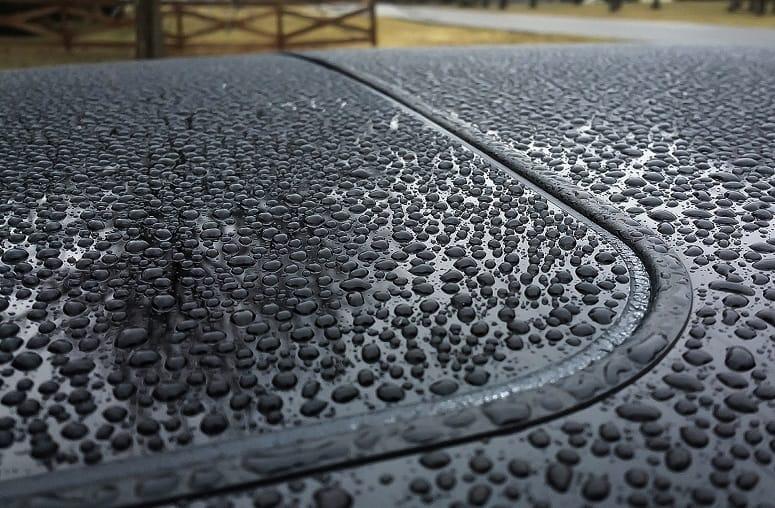 Raining On Car Roof