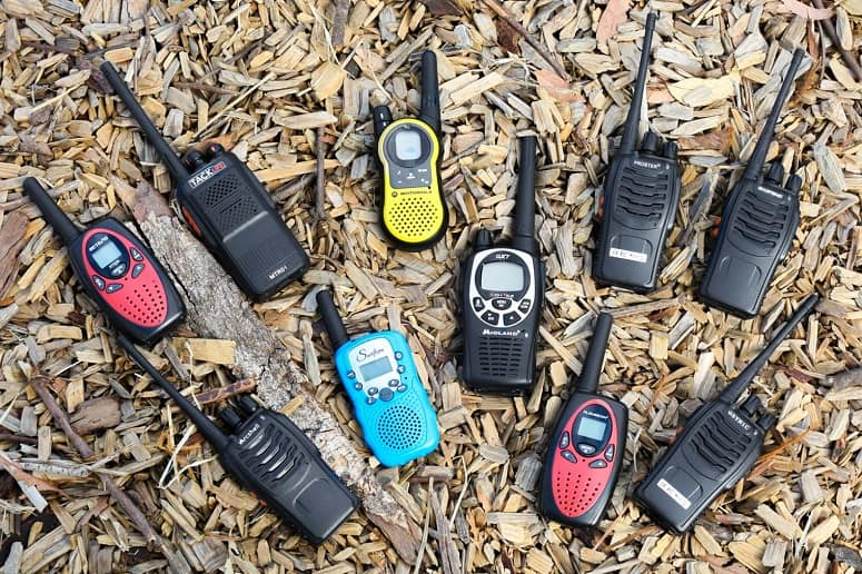 Different Walkie Talkies On Ground