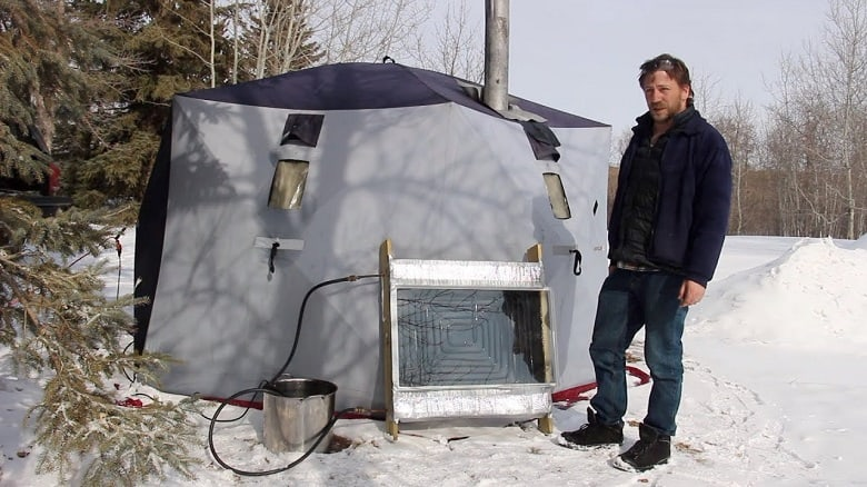 using a camping tent heater