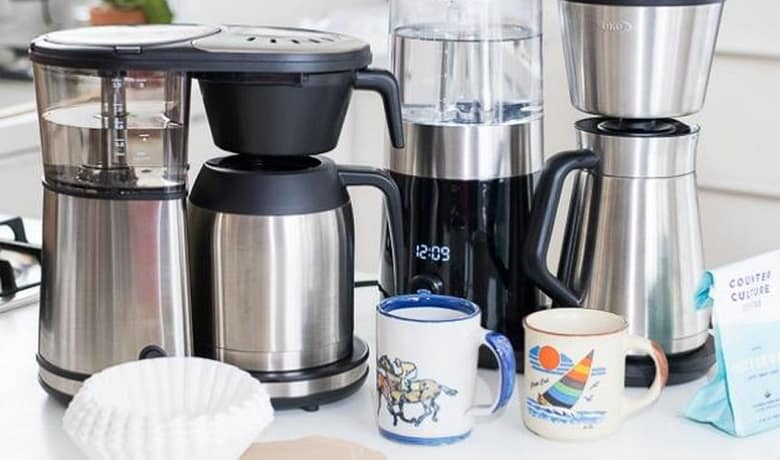 making coffee with a coffee maker