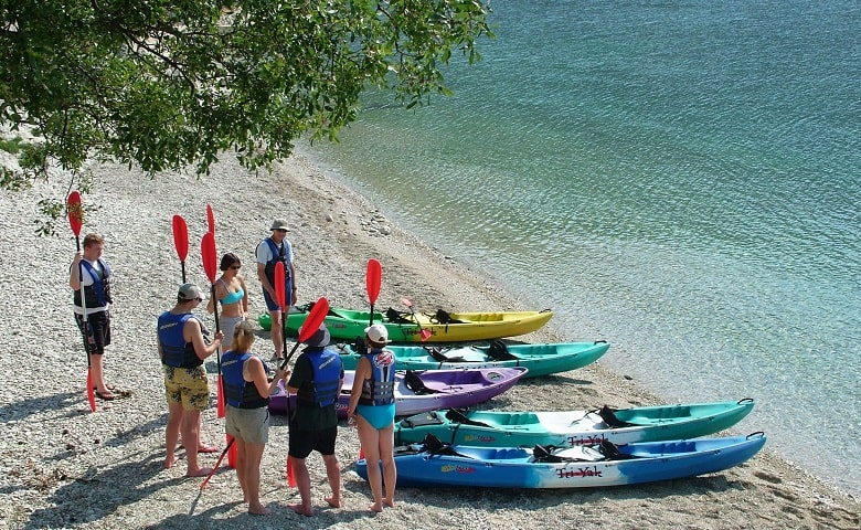 preparing for kayak adventure