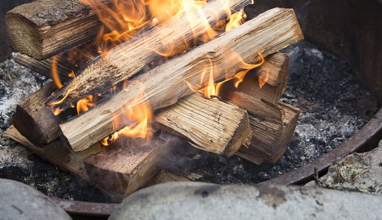 starting a camping fire